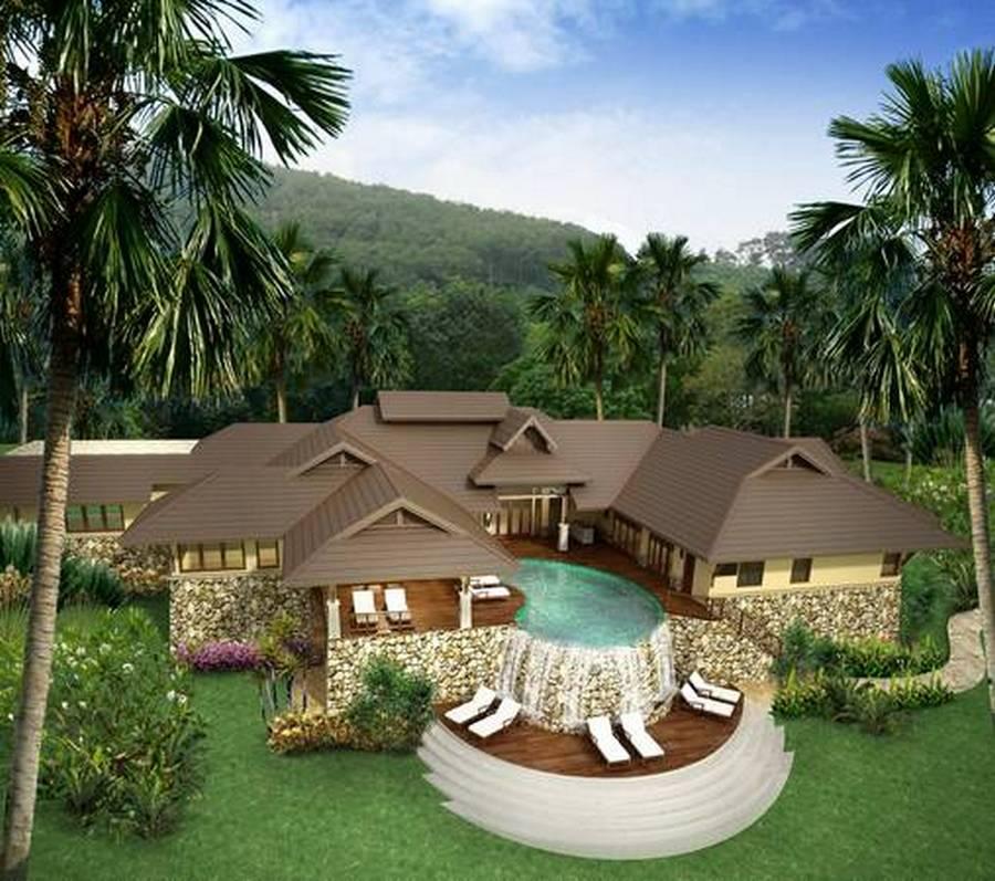 Contemporary Tropical Villa - Kensington Custom Design & Build For Private Client